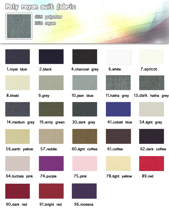 Fabric-65% polyester-35% rayon-Poly rayon suit fabric-20110706