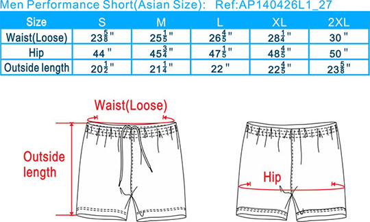 Asian size-Asian-Performance shorts-Men-20110803