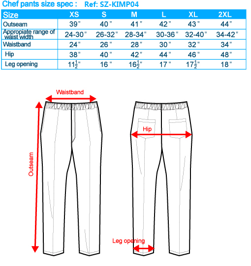 size-list-Chef pants-male-20110327