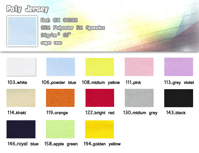 Fabric-CX00388-95% Polyester-5% Spandex-Caps use-Doly Jersey-20101010