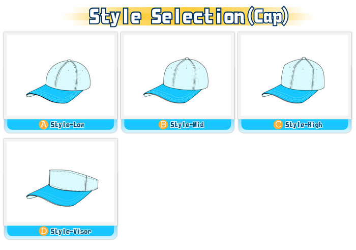 Design options-Style selection-Cap
