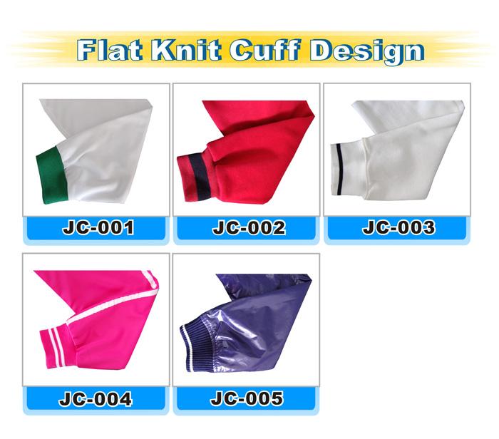 flat knit cuff design