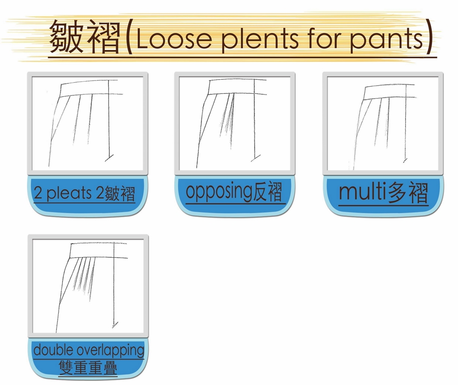 loose pleats OF pants