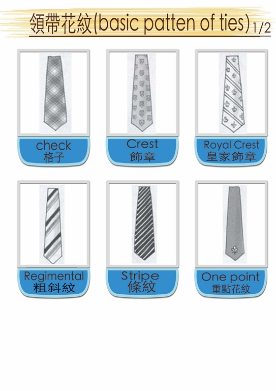 patten of ties