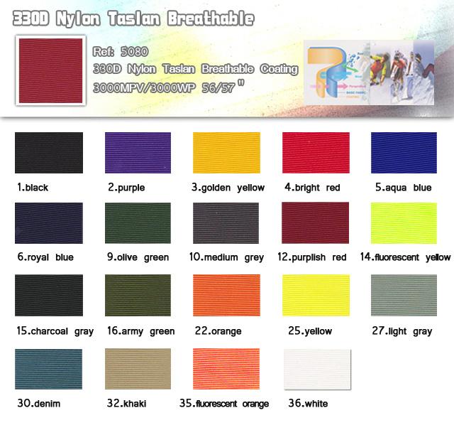 Fabric-330D Nylon Taslan Breathable-20101111