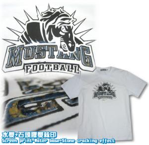 Logo-水漿加石頭膠漿絲印-短袖T恤_igift