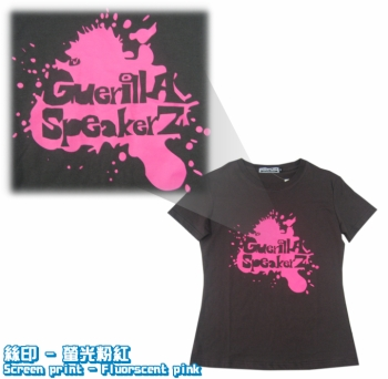 Logo-絲印-螢光粉紅  Screenprint-Fluorscent-pink-Tee_igift