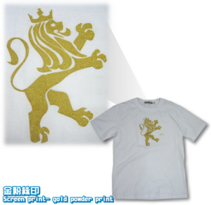 Logo-金粉絲印-短袖T-shirt_igift