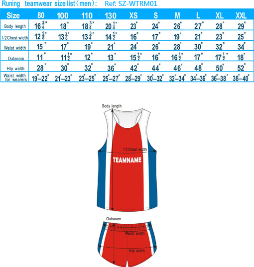 runing teamwear size list men-20121127_igift