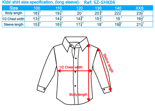 size-list-long sleeve-kids'shirt-20121117