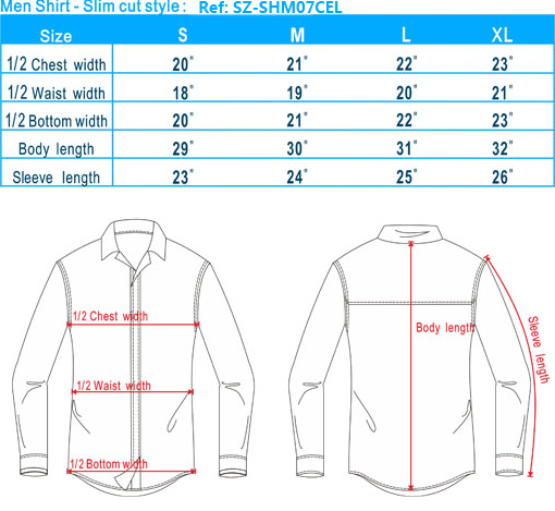 size-list-men shirt slim cut style-20130731