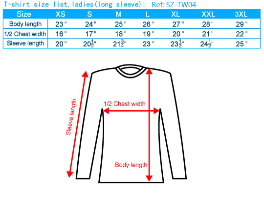 size-list-tee-female-long
