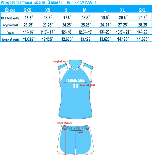 volleyball teamwear size list ladies-20121127