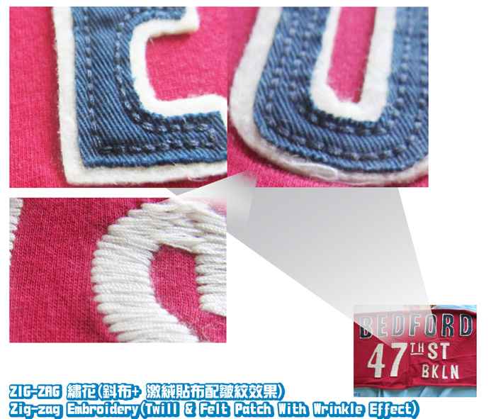 logo2-Zig-Zag-Embroidery-Twill-Felt Patch With Wrinkle Effect-1-20111015