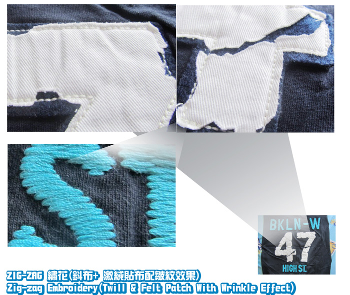 logo2-Zig-Zag-Embroidery-Twill-Felt Patch With Wrinkle Effect-4-20111015