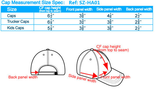 caps sizes chart, baseball caps all sizes, hats for all ...