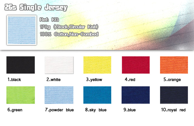 Fabric-26s-Single Jersey-170g-stock-circular-knit-100%-cotton-non-combed-20101122