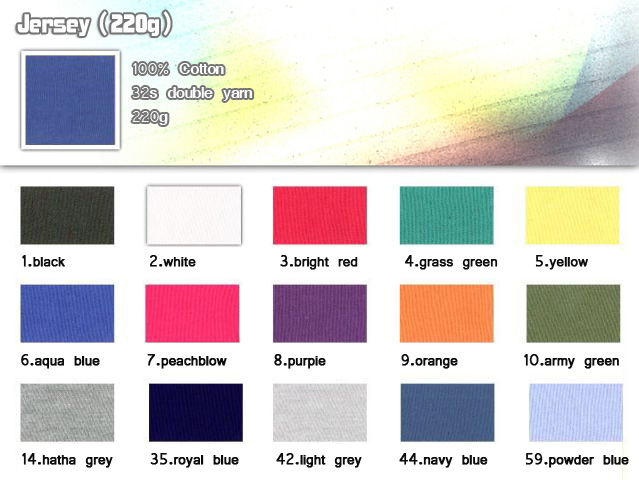 Fabric-32s-100%-Cotton-double yarn-220g-Jersey-TShirt-20101017_igift