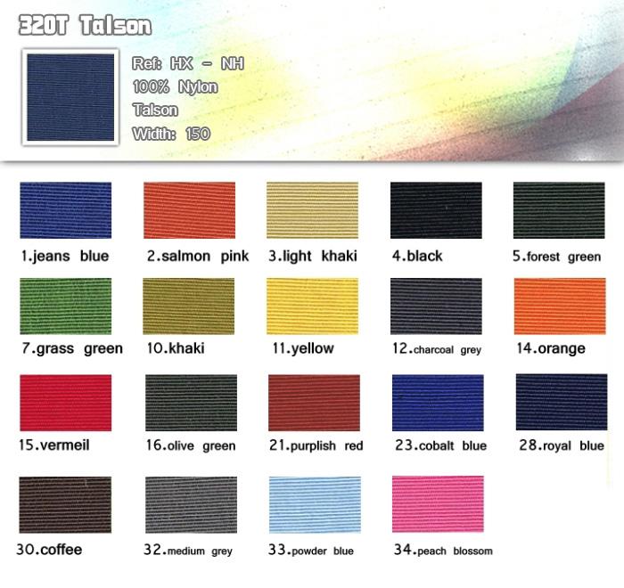 布-100% nylon-320T Talson-20121224