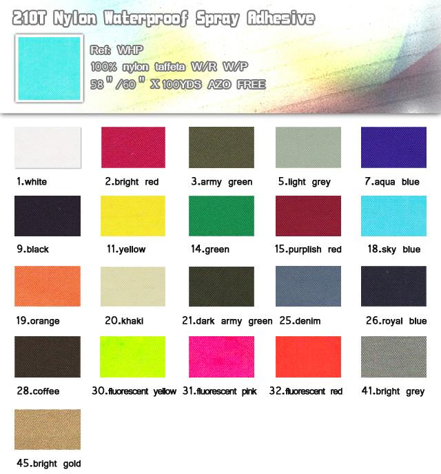 Fabric-210T Nylon Waterproof Spray Adhesive-100% nylon-taffeta-20101111