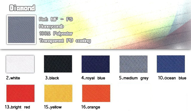Fabric-Diamond-Honeycomb-100% Polyester-Transparent PU coating-20121222