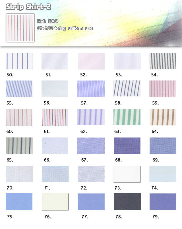 Fabric-strip shirt-2-chef-catering uniform use-20101013