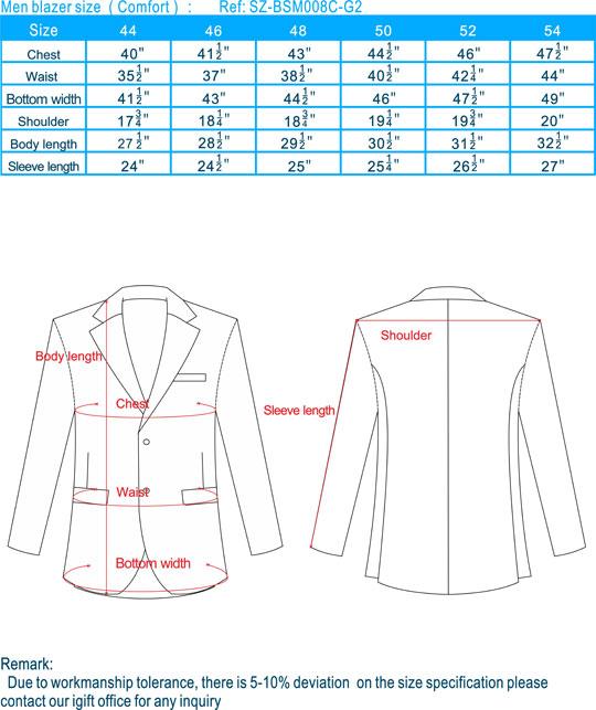 size-men blazer-Comfort