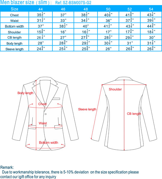 size-men blazer-Slim