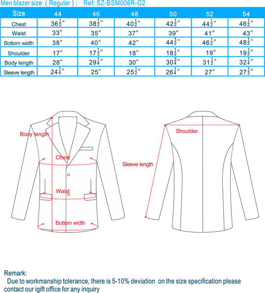 size-men blazer-Regular