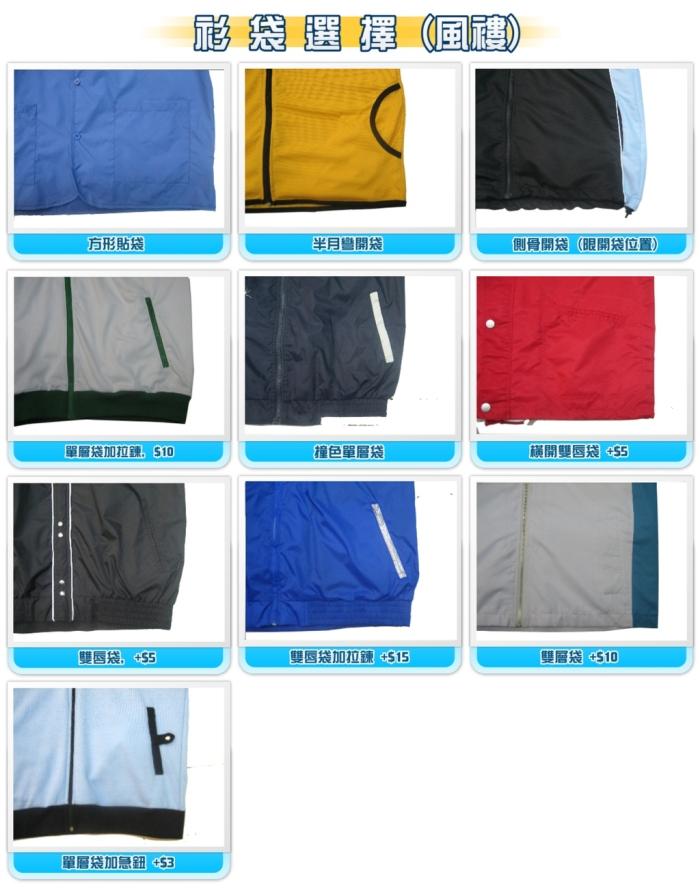 設計選擇- 衫袋選擇-風褸