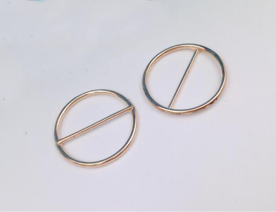 ZJ    金屬圓形實心三檔扣  腰帶扣  日字扣