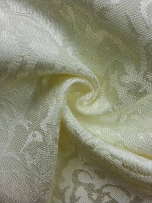 TB-FDN  提花桌布  枱布 100%滌  散花牡丹-米白  花瓣紋