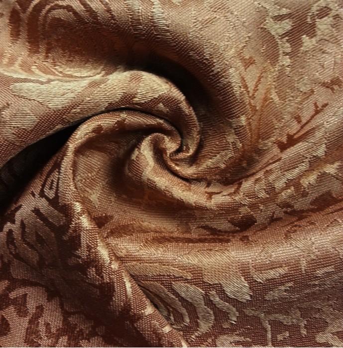 TB-FDN  提花桌布  枱布 100%滌  散花牡丹-咖啡  花瓣紋