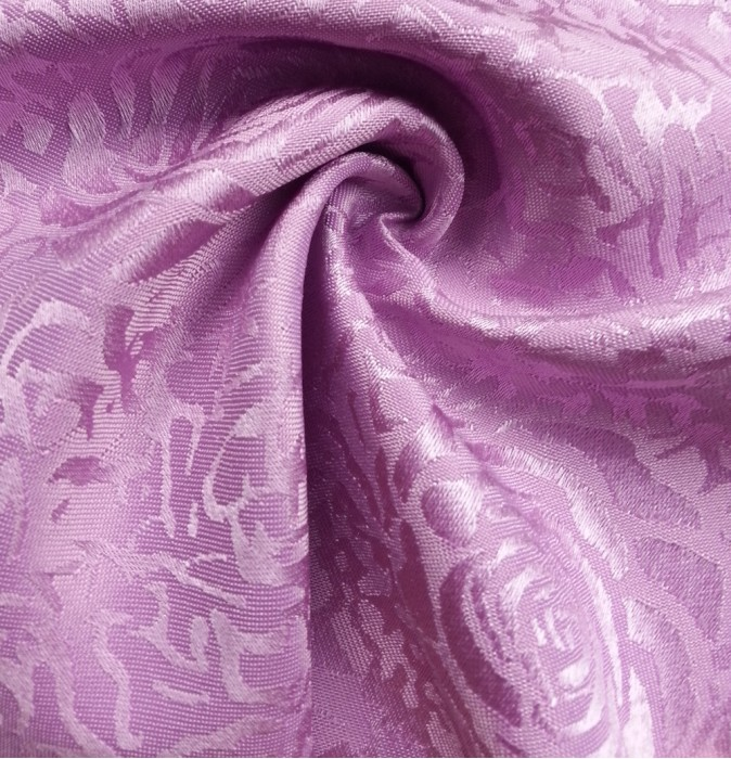 TB-FDN  提花桌布  枱布 100%滌  散花牡丹-淺紫  花瓣紋