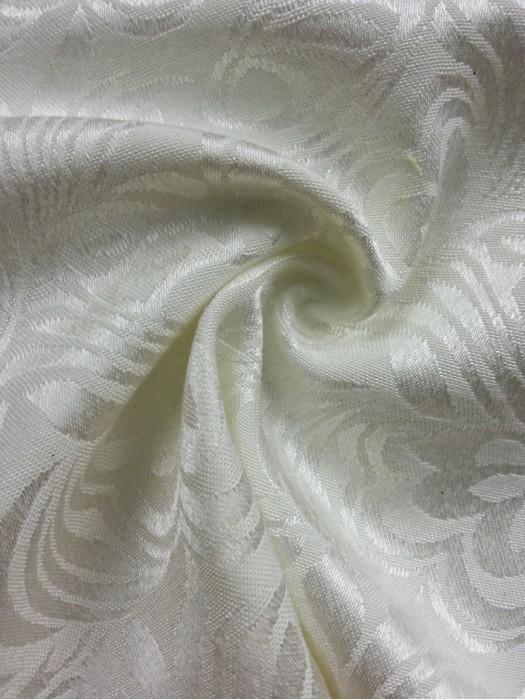 TB-FDN  提花桌布  枱布 100%滌  鬱金香-米白 花瓣紋