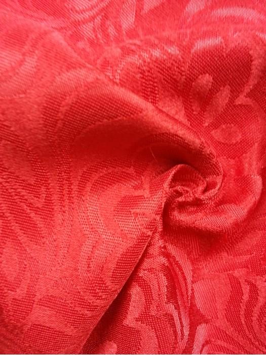 TB-FDN  提花桌布  枱布 100%滌  鬱金香-大紅 花瓣紋