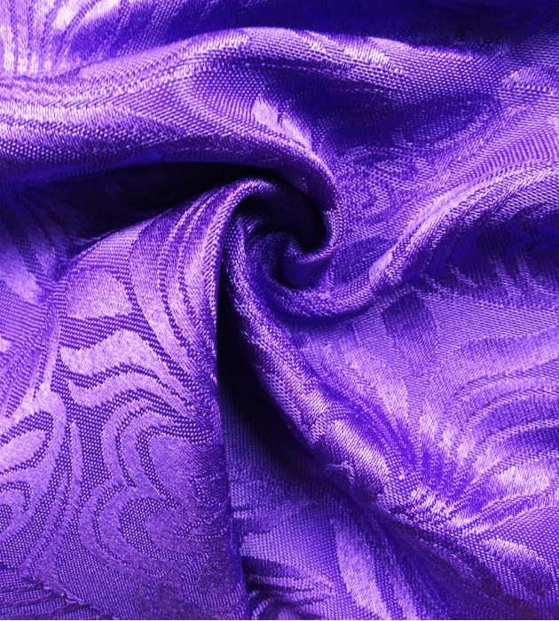 TB-FDN  提花桌布  枱布 100%滌  鬱金香-深紫 花瓣紋