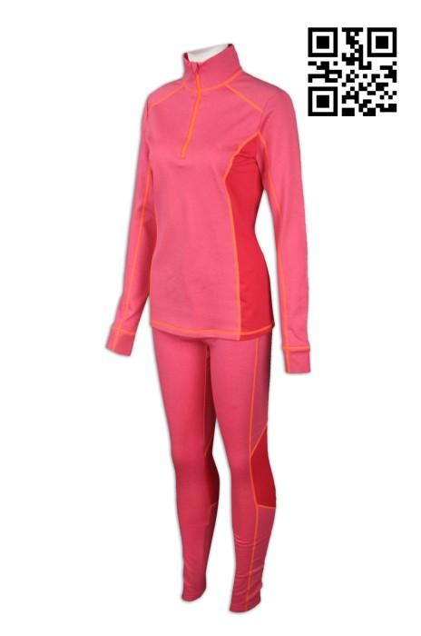 TF049  設計緊身運動套裝 訂購時尚運動裝 來樣訂造專業運動裝 運動套裝供應商