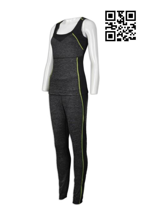 TF056 製作背心緊身運動套裝 供應運動專用套裝 設計時尚緊身運動裝 緊身運動裝專門店