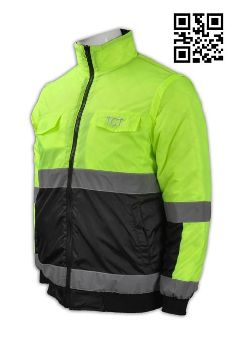 J617製造個人夾棉外套    訂印繡花LOGO夾棉外套 凍房  自訂反光效果夾棉外套款式   夾棉外套生產商