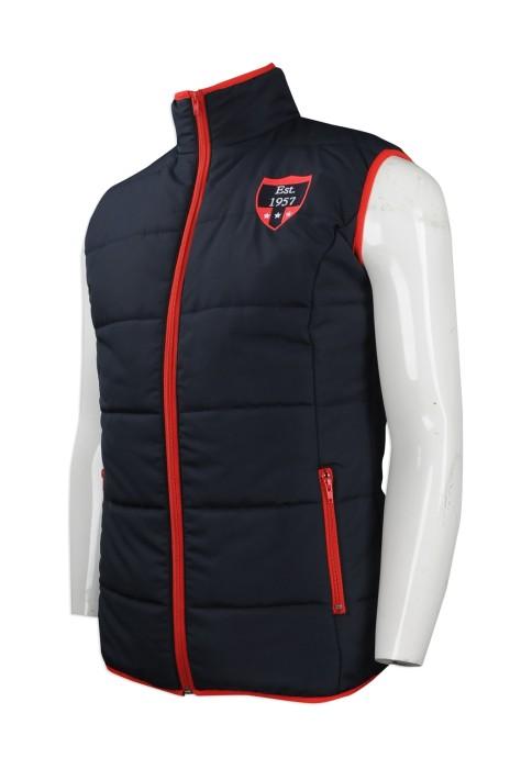 J721 團體訂購夾棉背心外套 設計夾棉背心外套 澳洲悉尼馬術活動 夾棉背心外套製造商 雪褸