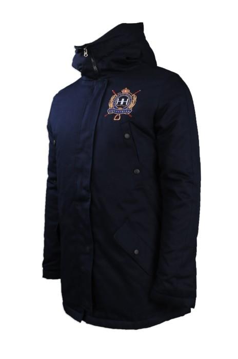 J726 團體訂做夾棉外套 網上下單加厚保暖夾棉外套 澳洲 HH 夾棉外套制服公司 雪褸