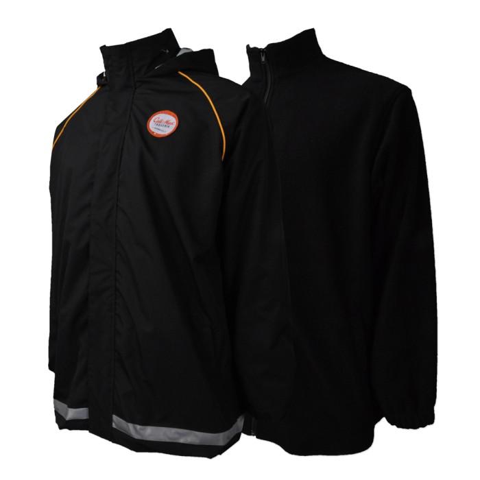 J705  製造兩件套風褸外套   設計內層可拆卸外套  西式快餐 外賣店員工制服 網上下單風褸外套  外套hk中心