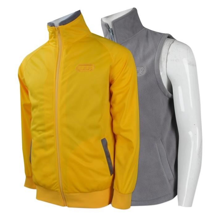 J748 大量訂購兩件套風褸 團體訂做風褸外套 快餐店 連鎖 制服 兩件套風褸製造商