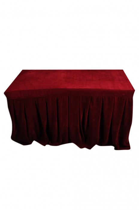 TBC041  大量訂造餐廳枱套  設計金絲絨枱套  有裙腳 來樣訂造枱套  枱套供應商  100%滌  123cm*60cm*74cm  UA CINEMA CIRCUIT
