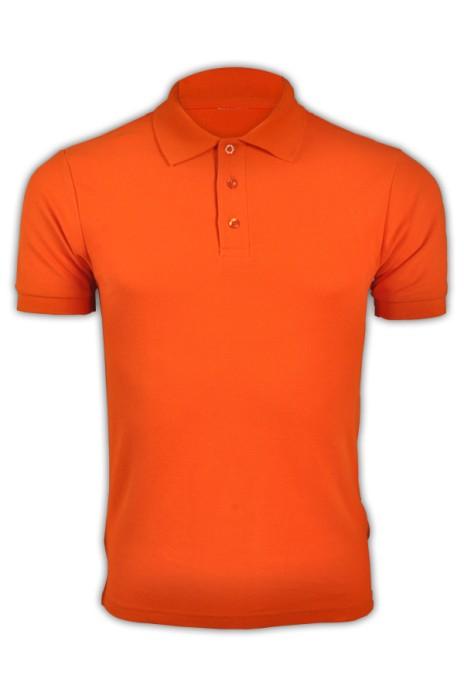 純色 橙黃色047短袖男裝Polo恤 1AC03  團體DIY純色polo恤 休閒運動polo恤 polo恤專門店 T恤價格