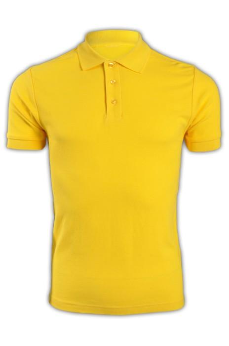 純色 深黃色049短袖男裝Polo恤 1AC03  純色短袖polo恤 純棉透氣polo恤 polo恤香港製造 T恤價格