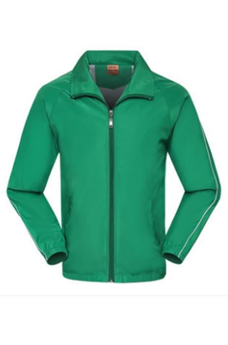 SKJ010  訂做文化衫  大量訂造拉鏈風褸外套 設計工衣外套  長袖廣告風衣   風褸製造商