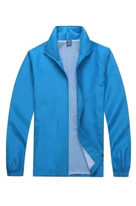 SKJ011 訂購男女工作服  定制長袖外套戶外廣告外套  輕薄防水風衣  風褸製造商 220g 水蜜桃