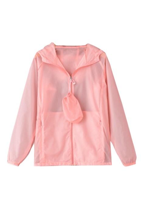 SKJ016   訂購夏季休閒純色防曬衣 透氣超薄外套戶外運動衣 速乾皮膚風衣 皮膚風褸供應商